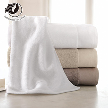 Luxury White Plain /Jacquard 16S / 21S / 32S 100% Cotton Hotel Towel