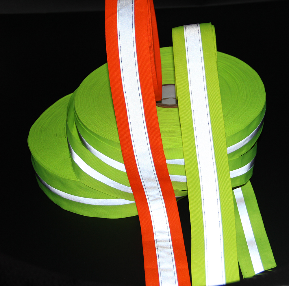 High Reflective Tape in Heat Transfer or Sewed on webbing