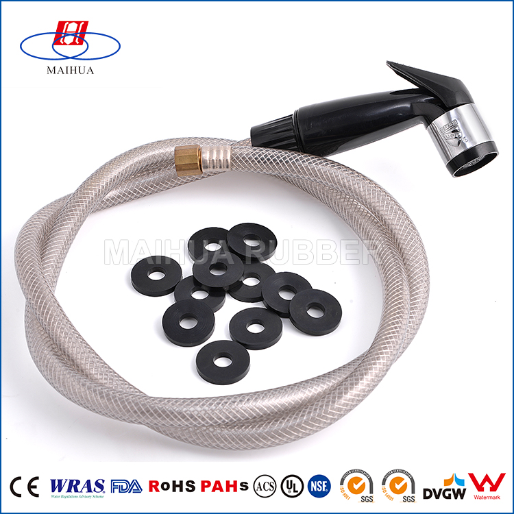Good quality custom epdm silicone viton round rubber gasket for pipe