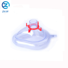Medical woman man silicone face oxygen breathing mask
