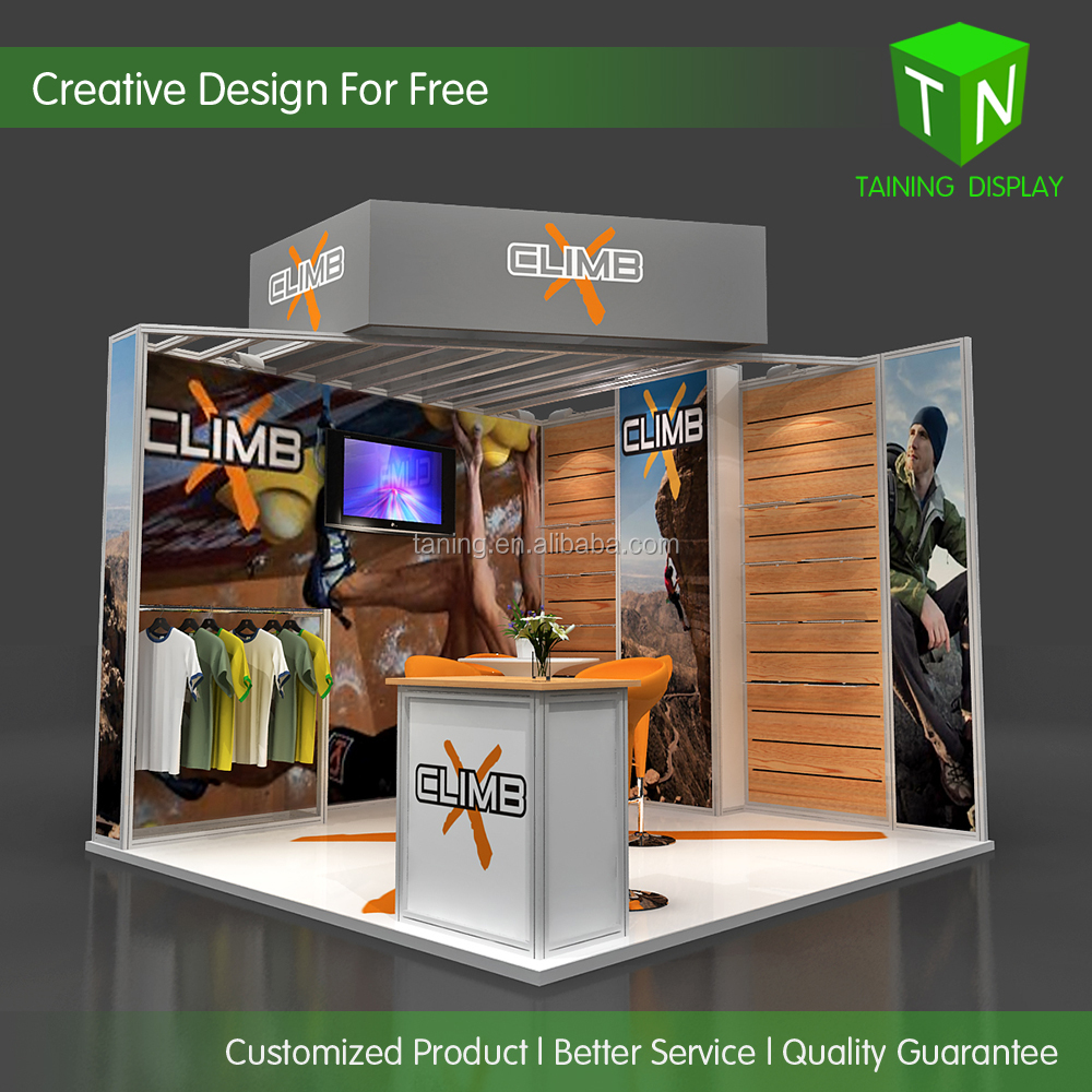 10'x10' exhibition booth design construction from Taining Display