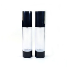 High quality Black large glass bottle pump spray glass bottle airless glass bottle