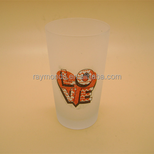 Frosted Drinking Wine Glass With Fancy Logo