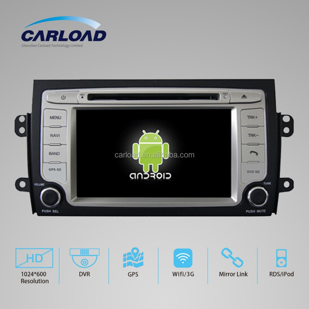 android 5.1 7 inch capacitance touch screen 2 din car dvd player for SUZUKI SX4 with