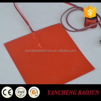 silicon rubber heater to heat aluminum plate