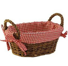 Hot sale empty cheap picnic wicker baskets wholesale with lining