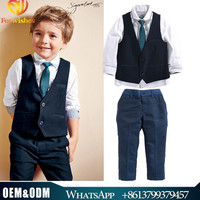 2016 Boys Spring clothing Sets kids boys T-shirt +Tie+Pant + Waistcoat 4-pieces Clothing Sets Clothes