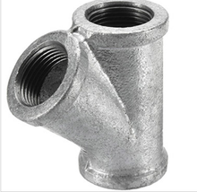 "3/4"" galvanized Y Tee pipe fitting malleable iron black flange"