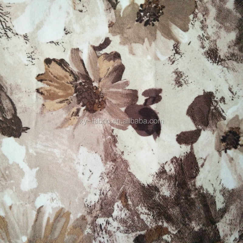 latest 100%polyester super soft velvet with paper printed & boding TC for sofa