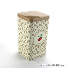 Food Grade Sealed Empty Tea Can Small Tin Container For Tea