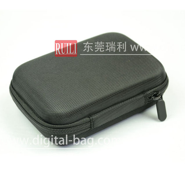 Black nylon cover eva etui mini storage case tool box/kit for earphone headphone coins