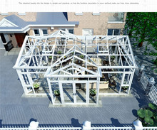 China manufacturer sun room outdoor glass room for garden glass house