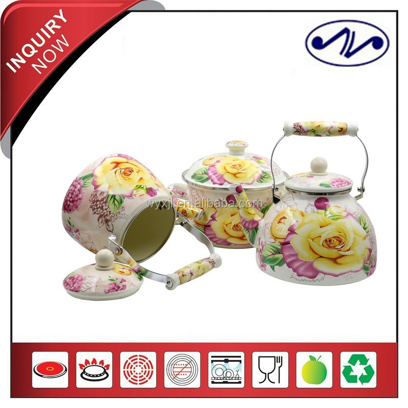 3PCS Porcelain Enamel Cookware Sets