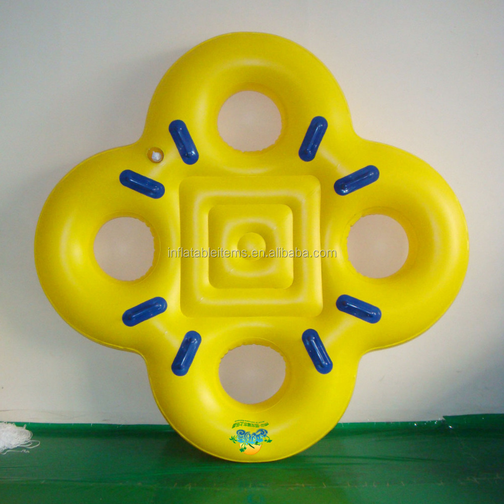 inflatable 4 person water tube for play game