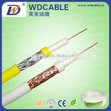 High Quality Cheaper Price RG59 RG6 RG11 Messenger semi finished coaxial cable