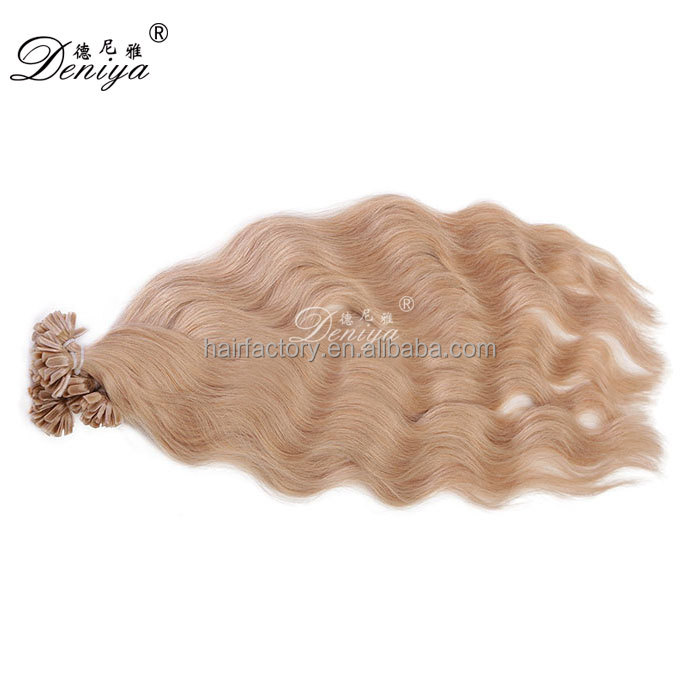 Top quality natural wave remy human hair U Tip hair extensions