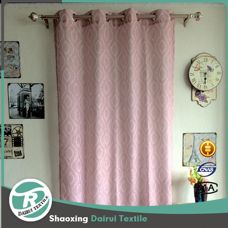 Wholesale grommet curtains cortina de ba printed