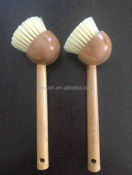 2017 hot -selling wooden handle clean brush for washing pan and dishes