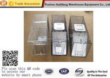 "Professional Grade Steel Outdoor Live Animal Trap 32""X10""X12"" Catch Release Humane Rodent Cage"