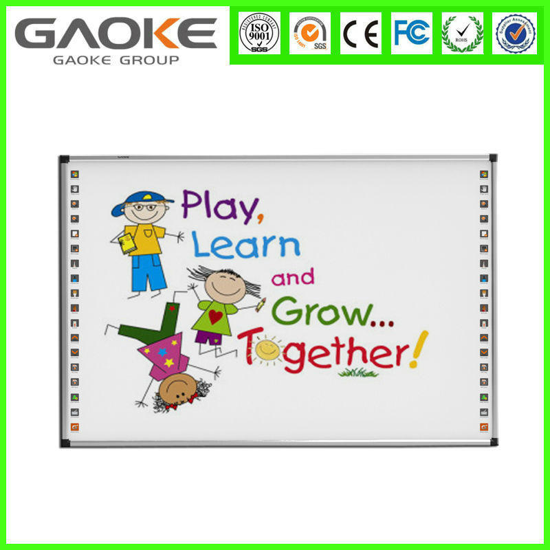 School anti-glare touch screen smart whiteboard for e-learning wall hang whiteboard for sale smart board pens customized OEM SKD