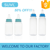 50% OFF factory transparent standard neck straight shape custom silicone 120ml 240ml hands free baby bottle manufacturers usa
