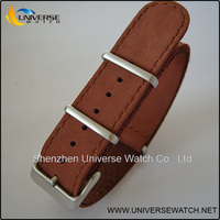 Genuine leather watch band 22mm with silver buckle UN24