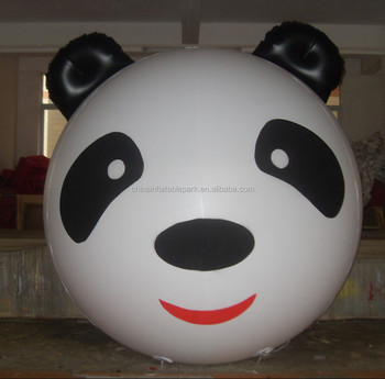 giant inflatable panda and elephant animal round balloon for sale