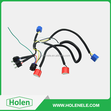 Dual H7 motorcycle headlight wiring harness