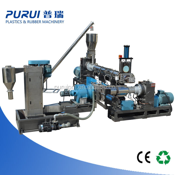 Polystyrene recycling plastic granule machine