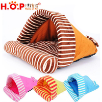 New Design Printed Fleece Dog Pet Bed High Quality Cat Burger Bed Cat Sleeping Bag Pet Bed For Cat