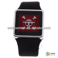 Wholesale High Quality New Fashion Anime One Piece Luffy Touch screen LED Wrist Watch