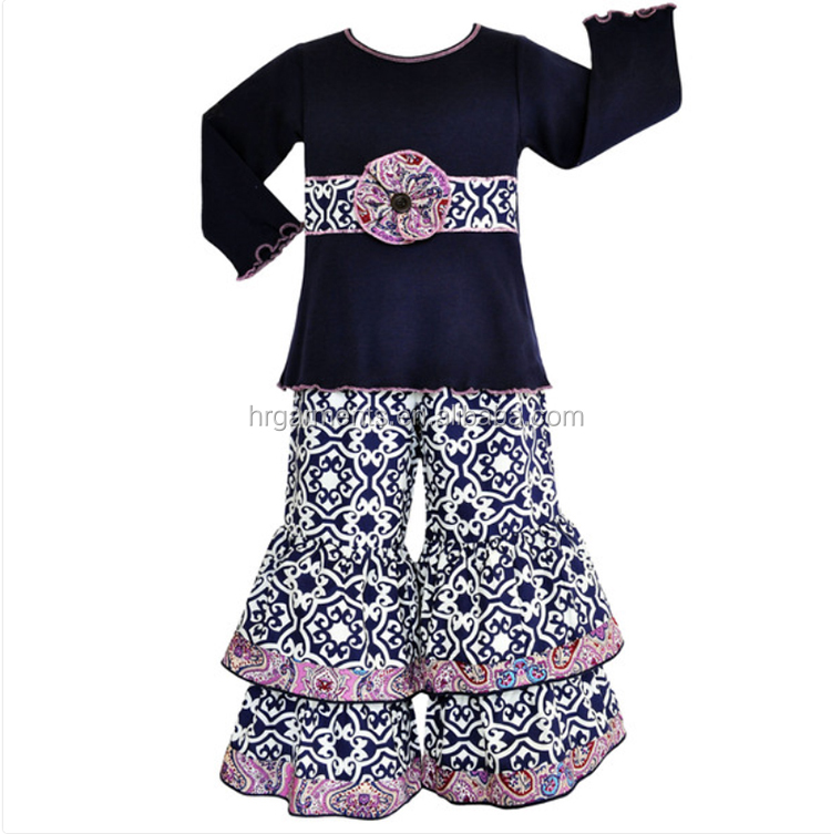 Wholesale Toddler Girls 2017 Spring suits Long Sleeves Outfits Childrens Top Quality Baby cotton clothes sets
