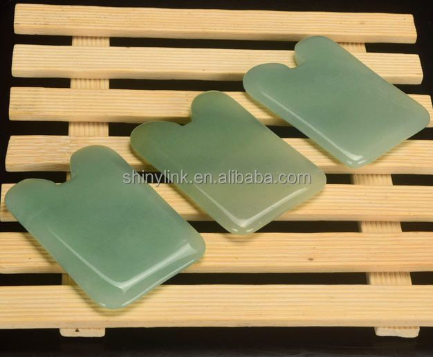 High quality dongling jade stone gua sha treatment scraping massage tool