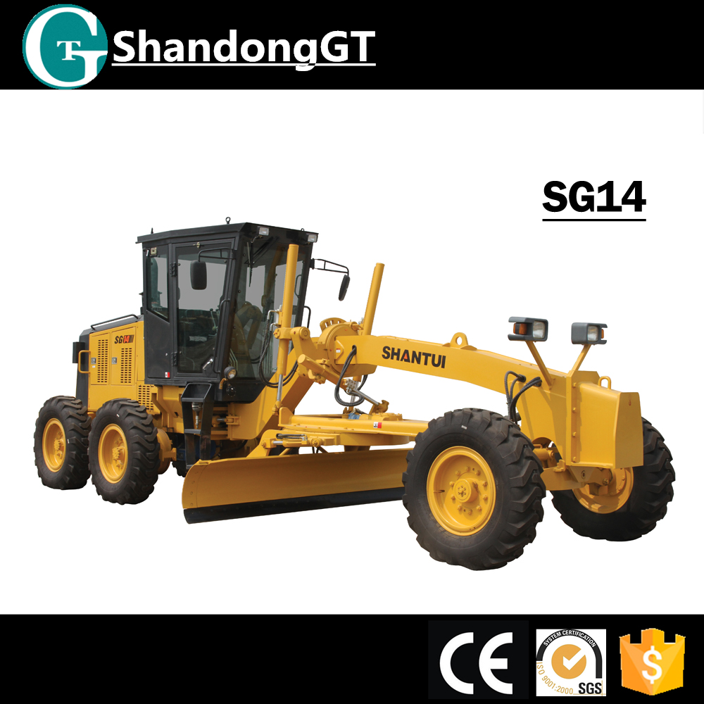 SHANTUI SG14 Small mini Motor Grader for Sale Tractor Road grader motor with CE Certification