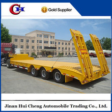 Factory direct sale 3 axle 50t CIMC low bed semi trailer