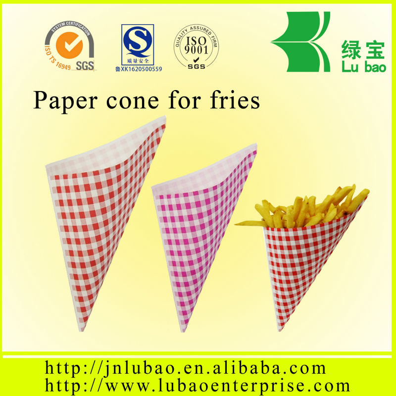 brazil style paper cone or bags chip bags so cheap!!