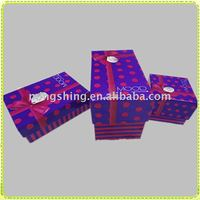 Rectangle purple corrugated box