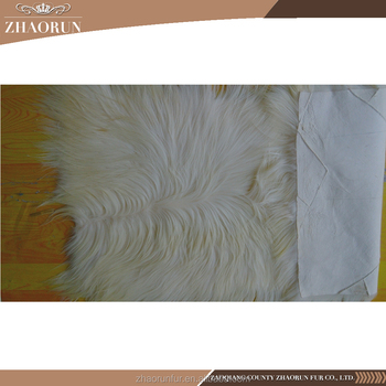 Wholesale price long hair Kidassia Goat Fur plate for garment