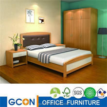 High quality wood double bed designs with box