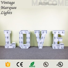 Mr Mrs love marquee sign letters customized size Led bulb lighting letters