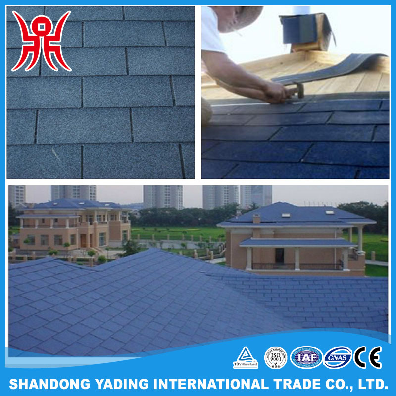 Thermal Insulation Modified Bitumen Roofing Materials 3-tab Asphalt Shingles