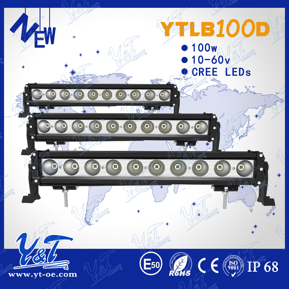 smooth surface 24w led work light bar ip68 led light bar led flood light bar with stand in shenzhen