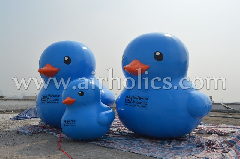 2015 Hot sale giant inflatable promotion blue duck for advertising H3113