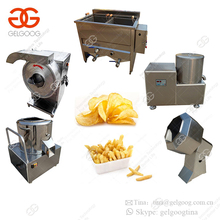 India Semi Automatic Potato Chips Making Machine Small Scale French Fries Production Line Price