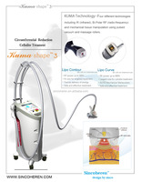 Best Velashape Kuma cellulite fat removal body Surface smooth shaping wrinkle removal vacuum suction RF machine