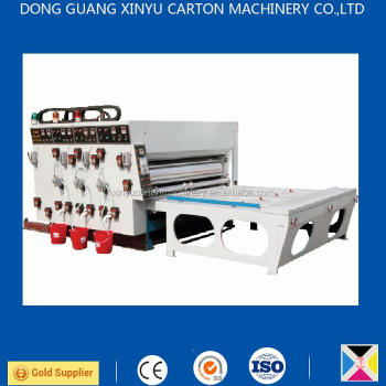 corrugated carton box making machine XY-C semi automatic flexo multi-color printer slotter die cutter
