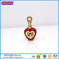 Custom high quality cute jewelry perfume bottle charm