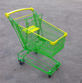 80L Asia style grocery shopping trolley with bright colour