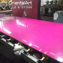 Wholesale eased edge pink quartz stone countertops