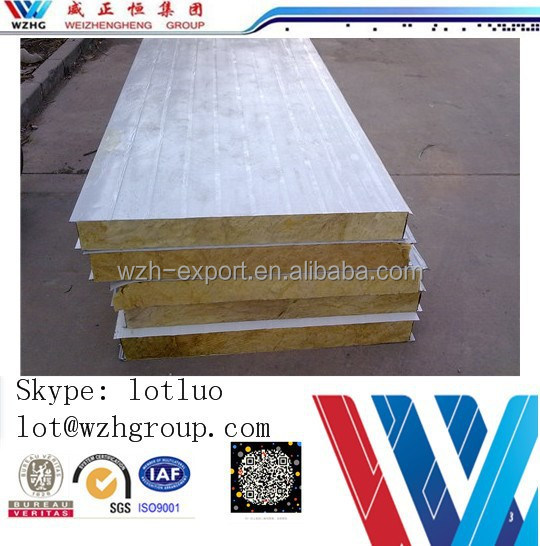 hot sale china rock wool sandwich panel
